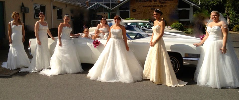 The brides at the wedding fayre at Carlton in Lindrick, Worksop loved our Cadillac.