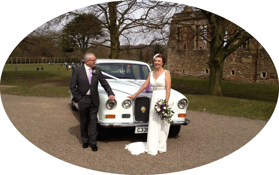 Daimler & Couple At Rufford Abbey
