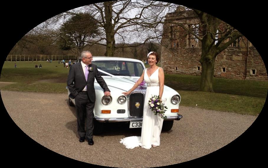 Daimler & Couple At Rufford Abbey